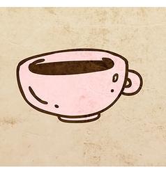 cup coffee cartoon vector image