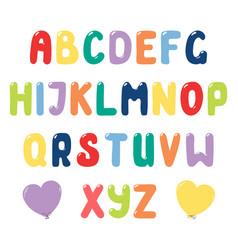Cute roman alphabet vector