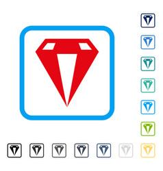 Diamond framed icon vector