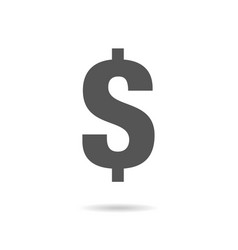 dollar sign in flat style vector image