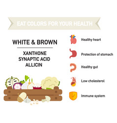 Eat colors for your health vector