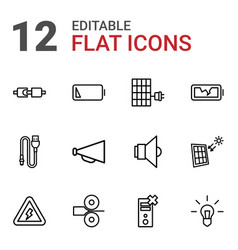 Electricity icons vector