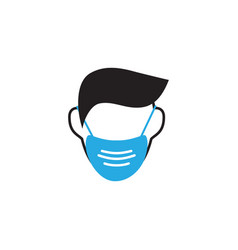 face mask icon design template isolated vector image