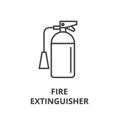 fire extinguisher line icon outline sign linear vector image