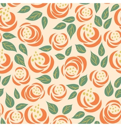 floral rose seamless pattern vector image vector image