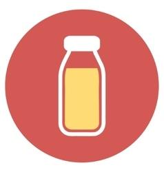 Full Bottle Flat Round Icon vector image