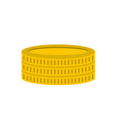 gold coin icon flat style vector image