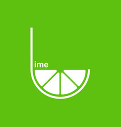 green lime logo design template vector image