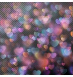 Hearts bokeh as effect EPS 10 vector image