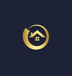 Home realty gold company logo vector
