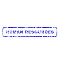 Human resources rubber stamp vector