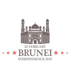 Independence day brunei vector