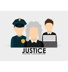 justice icon design vector image