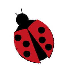 Ladybug virus technology system security concept vector