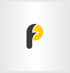 letter f and p fp logo icon element vector image