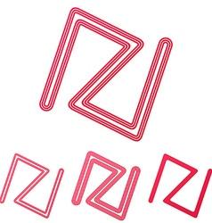 Line brand symbol logo design set vector