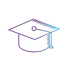 Line cap graduation to ceremony sucess vector