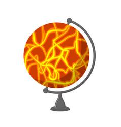Mars school globe planet geographical sphere vector