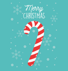 merry christmas celebration decoration candy cane vector image