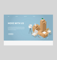 moving to a new place vector image