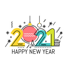 new year emblem 2021 number design vector image