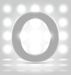 O over lighted background vector image vector image