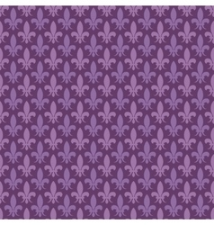Purple fleur de lis seamless pattern vector image
