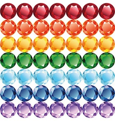 Rainbow of jewelry seamless texture vector image