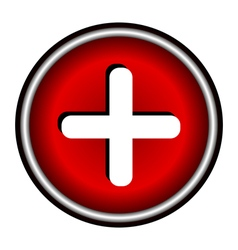 red cross icon vector image