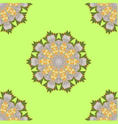 Retro pattern antique style acanthus decorative vector