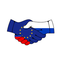 Russia and european union partnership agreement vector