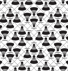 Seamless black design badminton pattern vector image