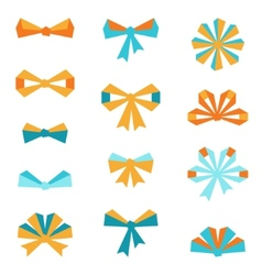 Set of various abstract bows and ribbons vector