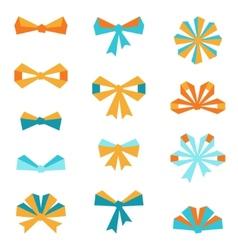 Set various abstract bows and ribbons vector