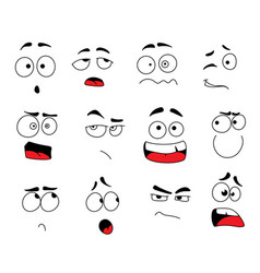 Smile emoticons or emoji faces icons set vector