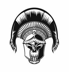 spartan skull logo vector image