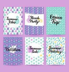 summer greetings trendy brochures vector image