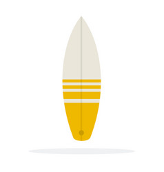 surfboard flat material design isolated object on vector image