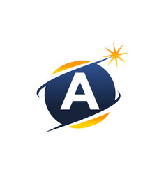 Swoosh logo letter a vector