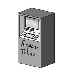 Terminal for aviation tickets terminals single vector