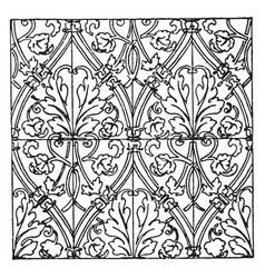 Textile pattern is a german renaissance design vector