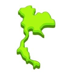 Thailand map icon cartoon style vector image