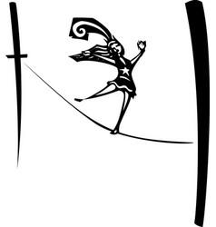 tightrope walker vector image