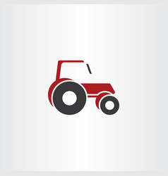 tractor icon logo element symbol vector image