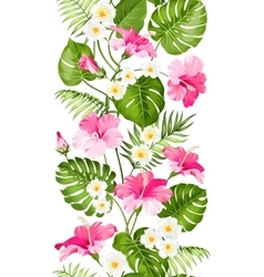 Tropical flowers elements vector