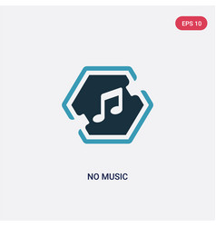 Two color no music icon from signs concept vector