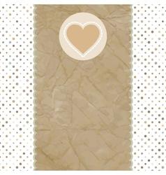 Valentine heart card vector image