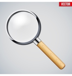 Vintage Magnifying glass vector image