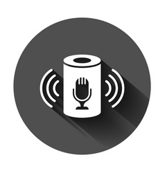Voice assistant icon in flat style smart home vector