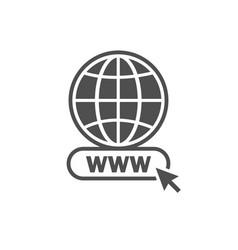 Website icon world globe vector